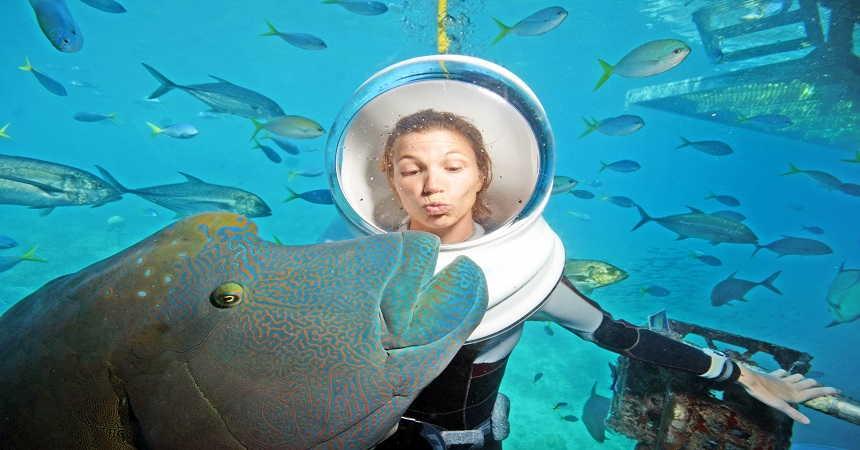 Seawalker helmet diving